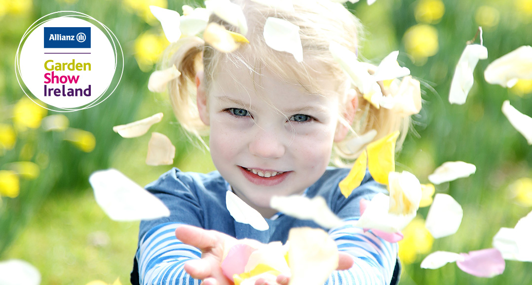 Garden Show Ireland little girl with petals image